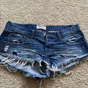 One Teaspoon Bonita's Denim Shorts